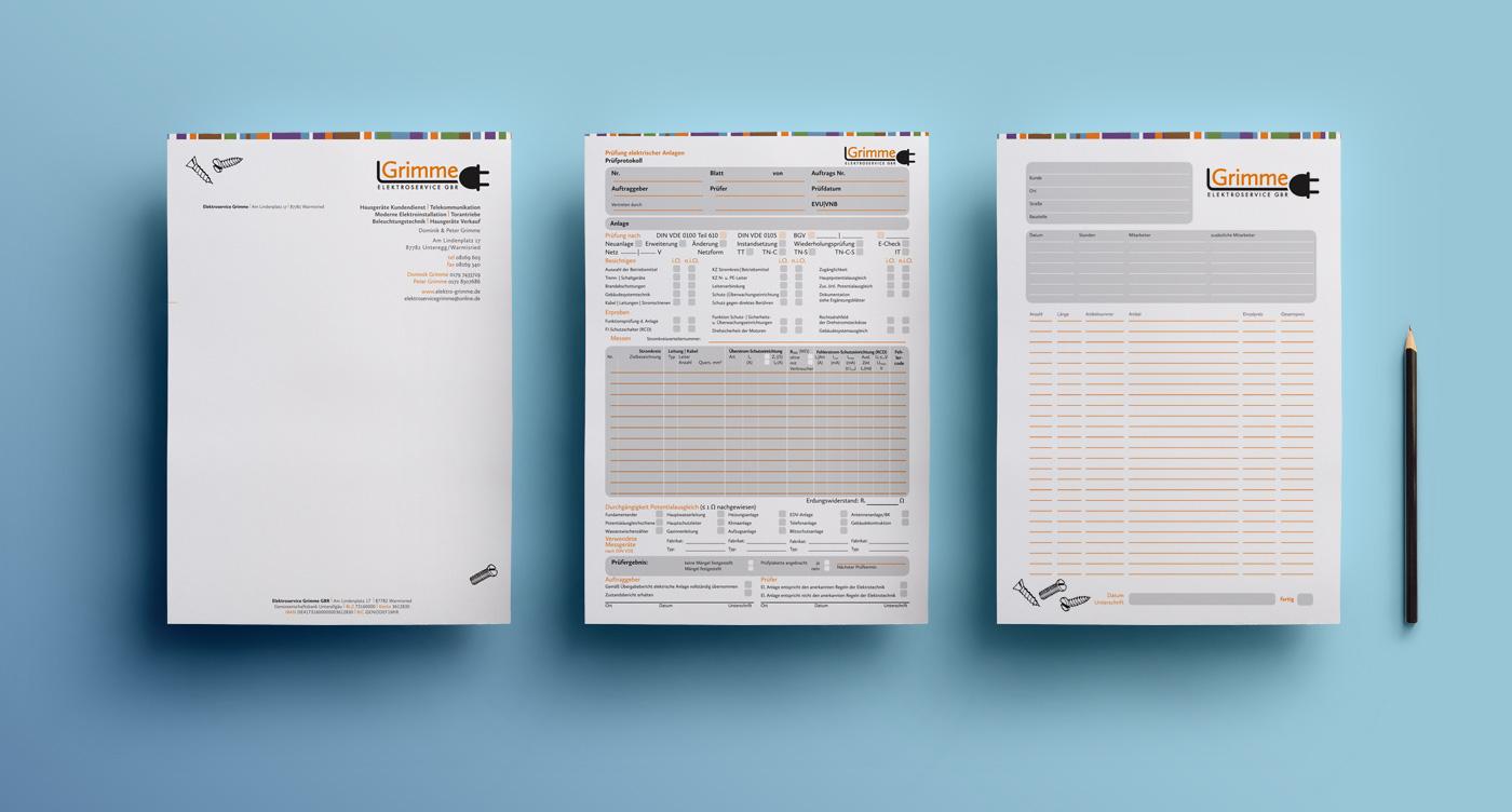 elektroservice_grimme_briefpapier_geschaeftsaustattung_grafik_design_marina_grimme_augsburg